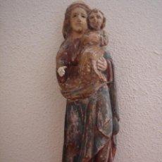 Arte: TALLA DE VIRGEN CON NIÑO S. XV -ESC ESPAÑOLA ALTA ÉPOCA, PROBABLE ESC ARAGONESA-. 61 CMS DE ALTURA. Lote 51104816