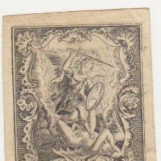 Arte: S. MICHAEL. GRABADO SOBRE PERGAMINO (9,5X7 CM.) GRABADOR LOUIS FRUIJTIERS. SIGLO XVIII. MUY RARO. Lote 51127974
