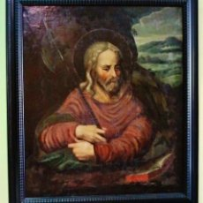 Arte: SAN MATÍAS. ÓLEO SOBRE LIENZO. ESCUELA ESPAÑOLA, S. XVII. CON MARCO RIZADO ESTILO HOLANDÉS.. Lote 51149750