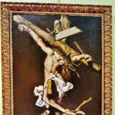Arte: CRISTO EN LA CRUZ. ÓLEO SOBRE LIENZO, S. XIX. INTERESANTE COMPOSICIÓN CON CARTELA EN LATÍN.. Lote 51149775