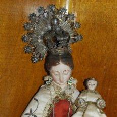 Arte: ESPECTACULAR IMÁGEN DE LA VIRGEN DEL CARMEN DE CAP I POTA.TALLA MADERA SIGLO XVIII. Lote 51180855
