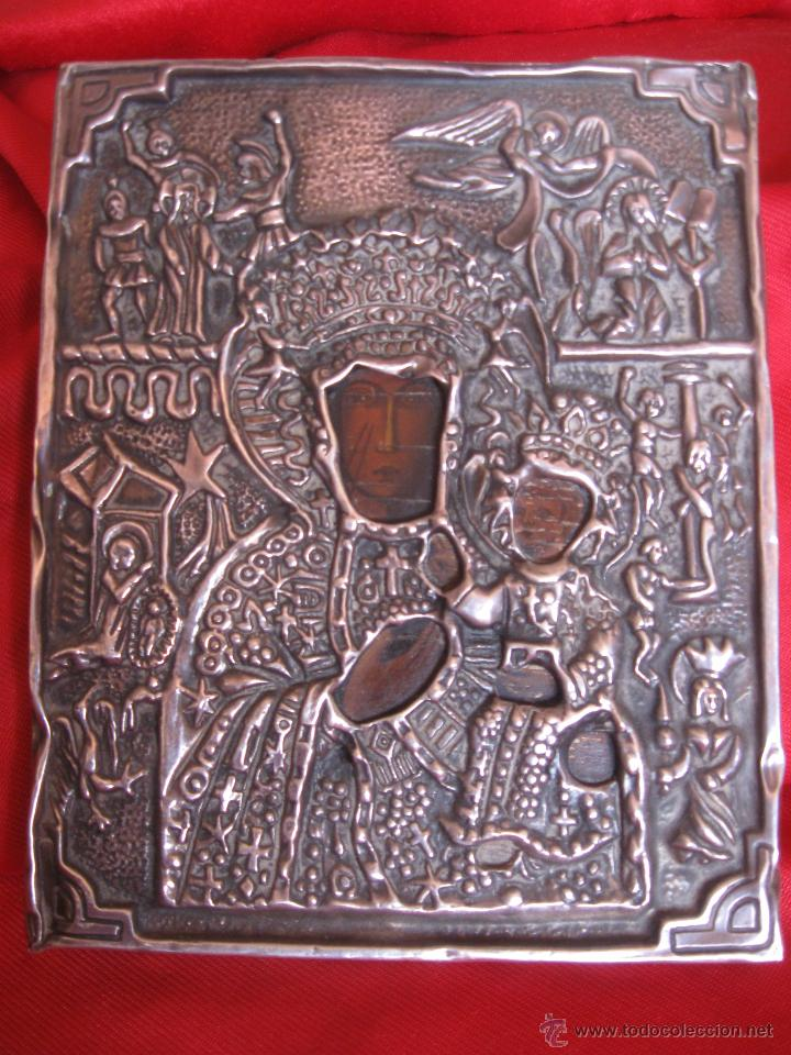 ICONO PLATA DE 925,CON DOS PUNZONES. (Arte - Arte Religioso - Iconos)