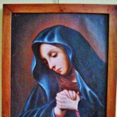 Arte: VIRGEN EN ORACIÓN. ÓLEO SOBRE LIENZO, S. XVIII. SEGUIDOR DE GIOVANNI BATTISTA SALVI DA SASSOFERRATO.. Lote 51236378