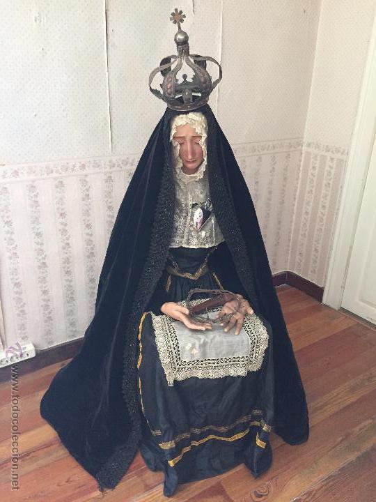 VIRGEN DOLOROSA S.XIX. TALLA DE VESTIR. (Arte - Arte Religioso - Escultura)