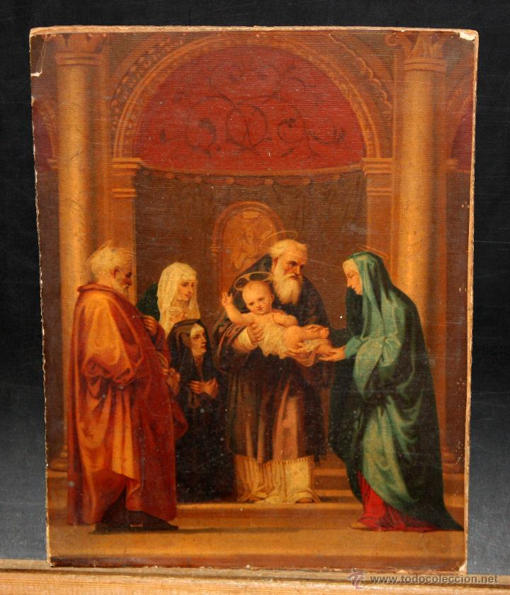 ESTAMPA RELIGIOSA CON SELLO DE LA FABRICA DE ANTONIO BOIX (Arte - Arte Religioso - Pintura Religiosa - Otros)
