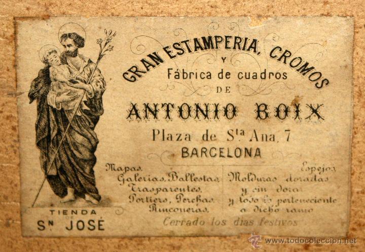 Arte: ESTAMPA RELIGIOSA CON SELLO DE LA FABRICA DE ANTONIO BOIX - Foto 3 - 245531990