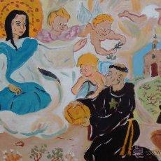 Arte: SAN NICOLÁS DE TOLENTINO RECIBE EL PAN DE LA VIRGEN MARÍA.ÓLEO LIENZO BASTIDOR ,60X80 CM. DE CRESPO. Lote 51380757