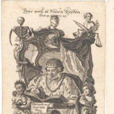 Arte: GRABADO DE LOS HERMANOS KLAUBER POSIBLEMENTE LETANÍAS LAURETANAS SIGLO XVIII. Lote 51415472