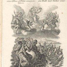 Arte: GRABADO DE LOS HERMANOS KLAUBER POSIBLEMENTE LETANÍAS LAURETANAS SIGLO XVIII. Lote 51415508