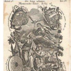 Arte: GRABADO DE LOS HERMANOS KLAUBER POSIBLEMENTE LETANÍAS LAURETANAS SIGLO XVIII. Lote 51415569