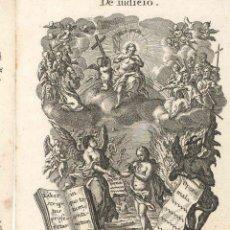 Arte: GRABADO DE LOS HERMANOS KLAUBER POSIBLEMENTE LETANÍAS LAURETANAS SIGLO XVIII. Lote 51415589