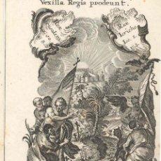 Arte: GRABADO DE LOS HERMANOS KLAUBER POSIBLEMENTE LETANÍAS LAURETANAS SIGLO XVIII. Lote 51415607