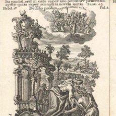 Arte: GRABADO DE LOS HERMANOS KLAUBER POSIBLEMENTE LETANÍAS LAURETANAS SIGLO XVIII. Lote 51415631