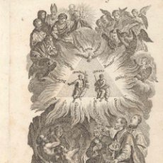 Arte: GRABADO DE LOS HERMANOS KLAUBER POSIBLEMENTE LETANÍAS LAURETANAS SIGLO XVIII. Lote 51415693