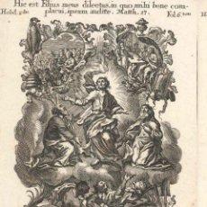 Arte: GRABADO DE LOS HERMANOS KLAUBER POSIBLEMENTE LETANÍAS LAURETANAS SIGLO XVIII. Lote 51415711