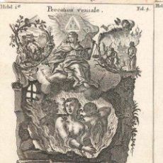 Arte: GRABADO DE LOS HERMANOS KLAUBER POSIBLEMENTE LETANÍAS LAURETANAS SIGLO XVIII. Lote 51415736