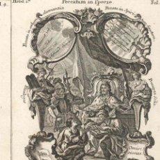 Arte: GRABADO DE LOS HERMANOS KLAUBER POSIBLEMENTE LETANÍAS LAURETANAS SIGLO XVIII. Lote 51415760