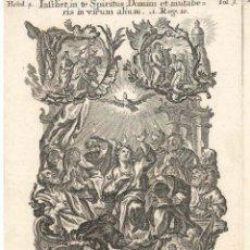 Arte: GRABADO DE LOS HERMANOS KLAUBER POSIBLEMENTE LETANÍAS LAURETANAS SIGLO XVIII. Lote 51415780