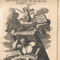 Arte: GRABADO DE LOS HERMANOS KLAUBER POSIBLEMENTE LETANÍAS LAURETANAS SIGLO XVIII. Lote 51420190