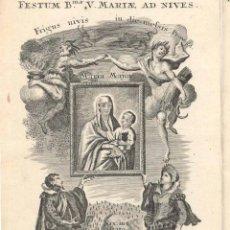 Arte: GRABADO DE LOS HERMANOS KLAUBER POSIBLEMENTE LETANÍAS LAURETANAS SIGLO XVIII. Lote 51420248