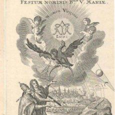 Arte: GRABADO DE LOS HERMANOS KLAUBER POSIBLEMENTE LETANÍAS LAURETANAS SIGLO XVIII. Lote 51420288