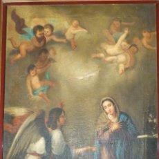 Arte: LA ANUNCIACIÓN. OLEO SOBRE LIENZO. 90 X 64 CM. HACIA 1900.. Lote 51430817
