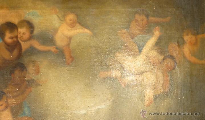 Arte: La anunciación. Oleo sobre lienzo. 90 x 64 cm. Hacia 1900. - Foto 7 - 51430817