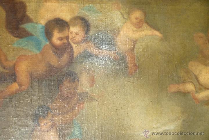Arte: La anunciación. Oleo sobre lienzo. 90 x 64 cm. Hacia 1900. - Foto 8 - 51430817