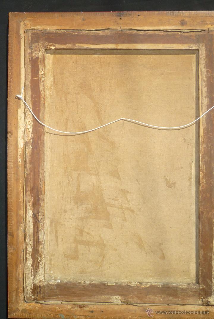 Arte: La anunciación. Oleo sobre lienzo. 90 x 64 cm. Hacia 1900. - Foto 9 - 51430817