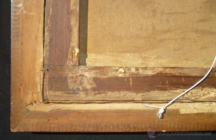 Arte: La anunciación. Oleo sobre lienzo. 90 x 64 cm. Hacia 1900. - Foto 10 - 51430817
