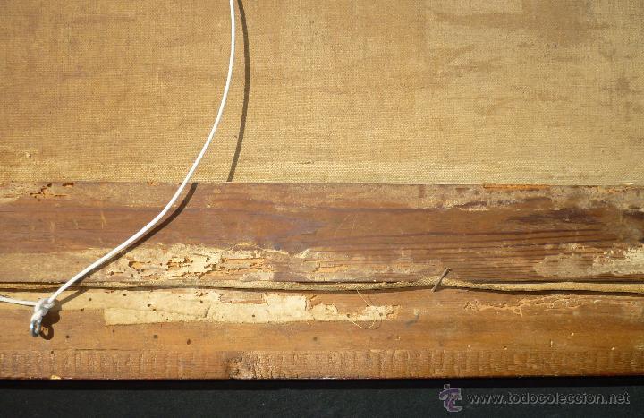 Arte: La anunciación. Oleo sobre lienzo. 90 x 64 cm. Hacia 1900. - Foto 11 - 51430817
