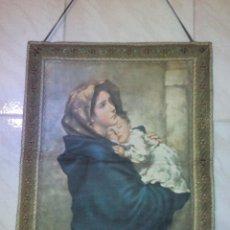 Arte: ANTIGUO ICONO DE MADONNA ESTAMPADO EN SEDA, ROBERTO FERRUZZI 1897. PRINCIPIOS DEL SIGLO XX. Lote 51430990
