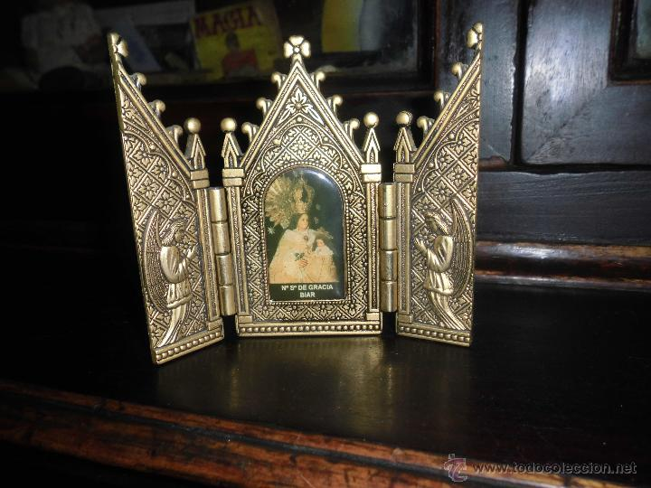 Arte: VIRGEN DE BIAR nuestra señora de biar triptico retablo TRIPTICO de bronce CAPIILLA - Foto 2 - 51461865