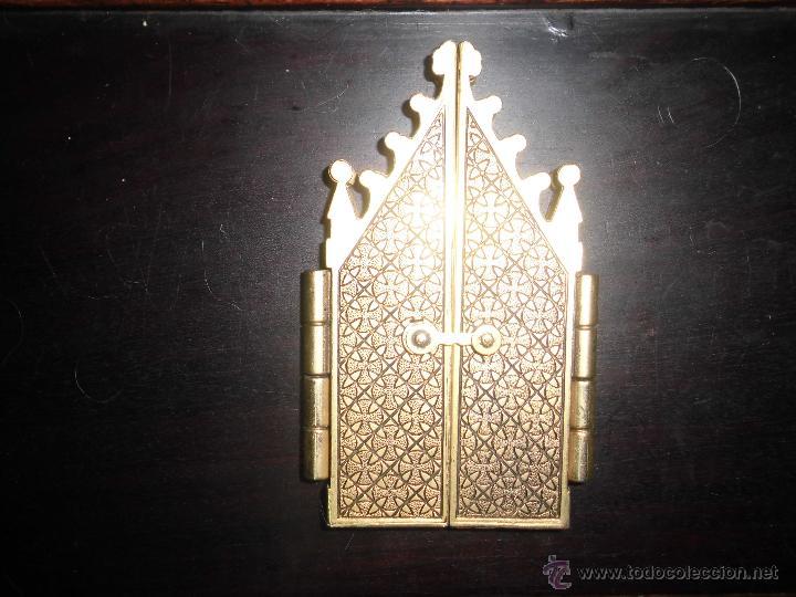 Arte: VIRGEN DE BIAR nuestra señora de biar triptico retablo TRIPTICO de bronce CAPIILLA - Foto 3 - 51461865
