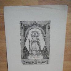 Arte: NUESTRA SEÑORA DE LA CORREA - LAMINA DE 34 X 24 CNTº -. Lote 51494880