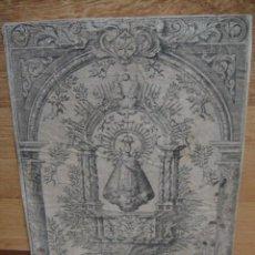 Arte: GRABADO DE NUESTRA SEÑORA DE LA OLIVA DE RECAS ( TOLEDO ) - GRABADOR MARCUS OROZCO. Lote 51509474