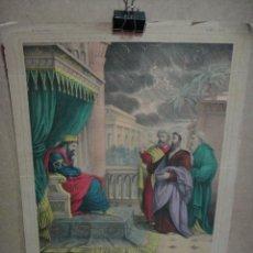 Arte: UNE PLAIE D'EGYPTE - LITOGRAFIA ILUMINADA 44 X 33 CNT - LITOGRAFO H.JANNIN - LIBRARIE HACHETTE . Lote 51519194