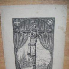 Arte: GRABADO CRISTO CRUCIFICADO - FIRMADO. Lote 51519702