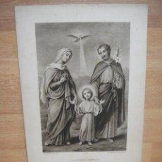 Arte: LA SAINTE FAMILLE - 29 X 20 CNTº - GRABADO EDITADO POR BOUMARD FILS. Lote 51520246
