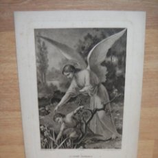 Arte: L'ANGE GARDIEN - 29 X 20 CNTº - GRABADO EDITADO POR BOUMARD FILS. Lote 51520319