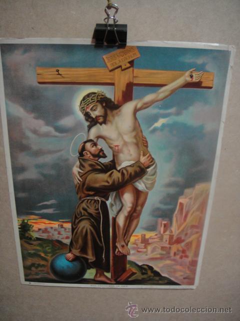 SAN FRANCISCO DE ASIS - LITOGRAFIA DURÁ - VALENCIA (Arte - Arte Religioso - Litografías)