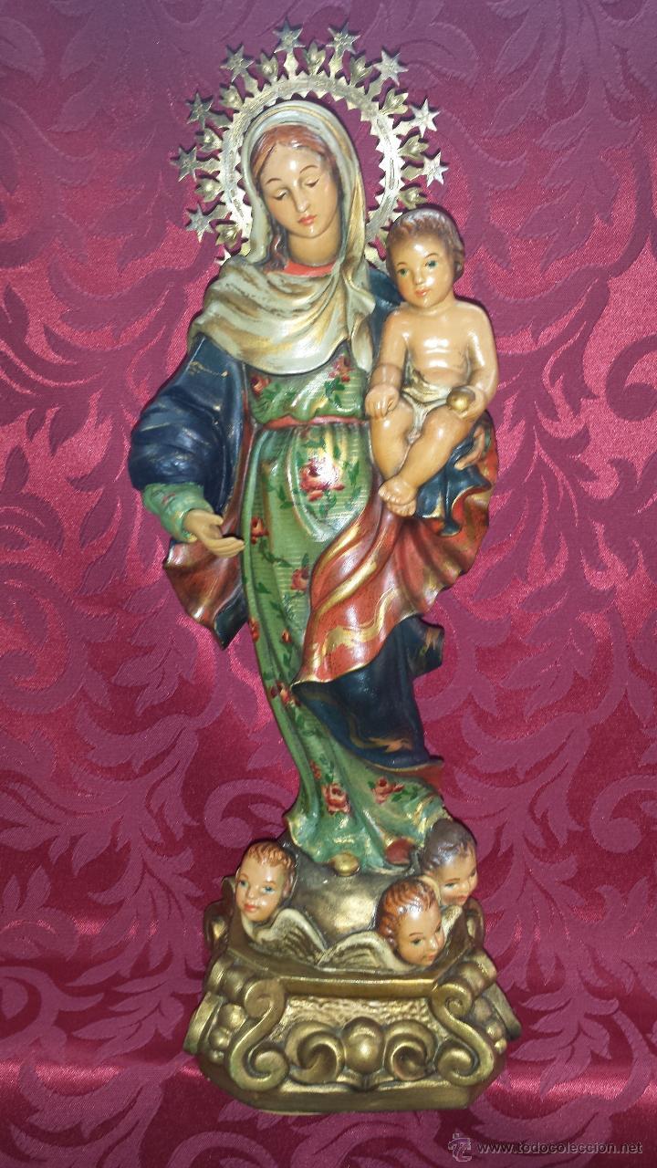 VIRGEN CON NIÑO EN BRAZOS (Arte - Arte Religioso - Escultura)