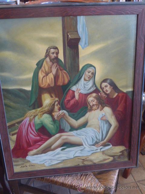 CUADRO RELIGIOSO ENMARCADO Y FIRMADO (Arte - Arte Religioso - Pintura Religiosa - Otros)