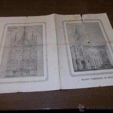 Arte: TRÍPTICO PETICIÓN DONATIVOS RETABLO Y ALTAR MAYOR DE LA IGLESIA PARROQUIAL DE RINLO AÑO 1.935 (LUGO). Lote 53898967