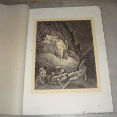 Arte: GRABADO DEL INFIERNO. TRICHON ET GUILLAUME. G. DORÉ. S.XIX.. Lote 51603333