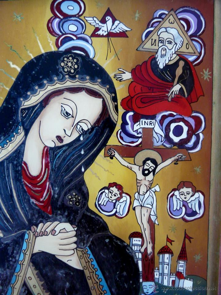 Arte: ICONO RUMANO PINTADO BAJO CRISTAL - Foto 12 - 51614327