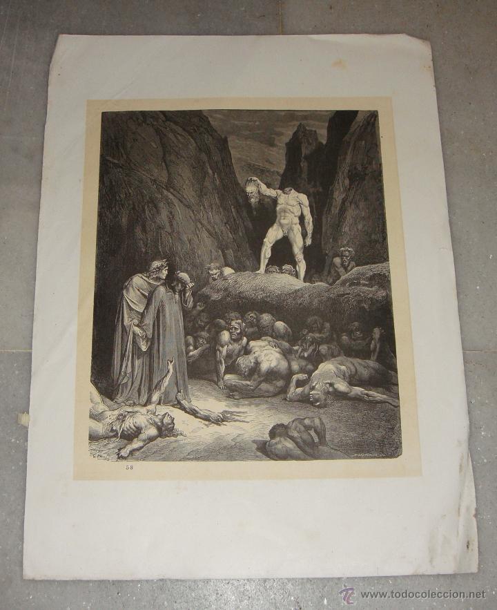 GRABADO DEL INFIERNO. G. DORÉ. S.XIX. (Arte - Arte Religioso - Grabados)