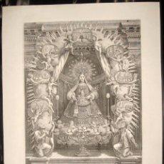 Arte: 1787 ESPECTACULAR GRABADO DE LA VIRGEN LA MERCED Y VISTA DE BARCELONA - DE MUSEO. Lote 51728690