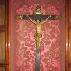 Arte: ESPECTACULAR TALLA - CRISTO CRUCIFICADO EN MADERA - SIGLO XVIII -. Lote 51884840