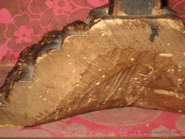 Arte: ESPECTACULAR TALLA - CRISTO CRUCIFICADO EN MADERA - SIGLO XVIII - - Foto 12 - 51884840